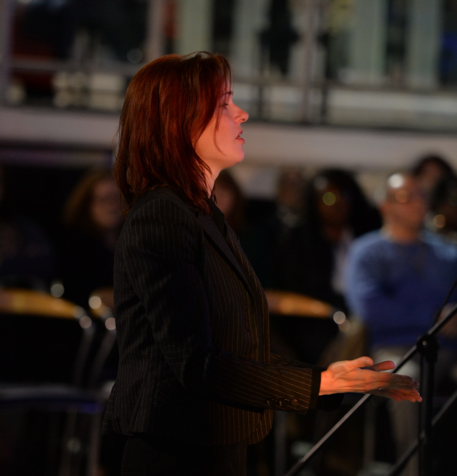 Rita Monori, Musical Director, conducts Woolwich Singers (photo: Mike King)