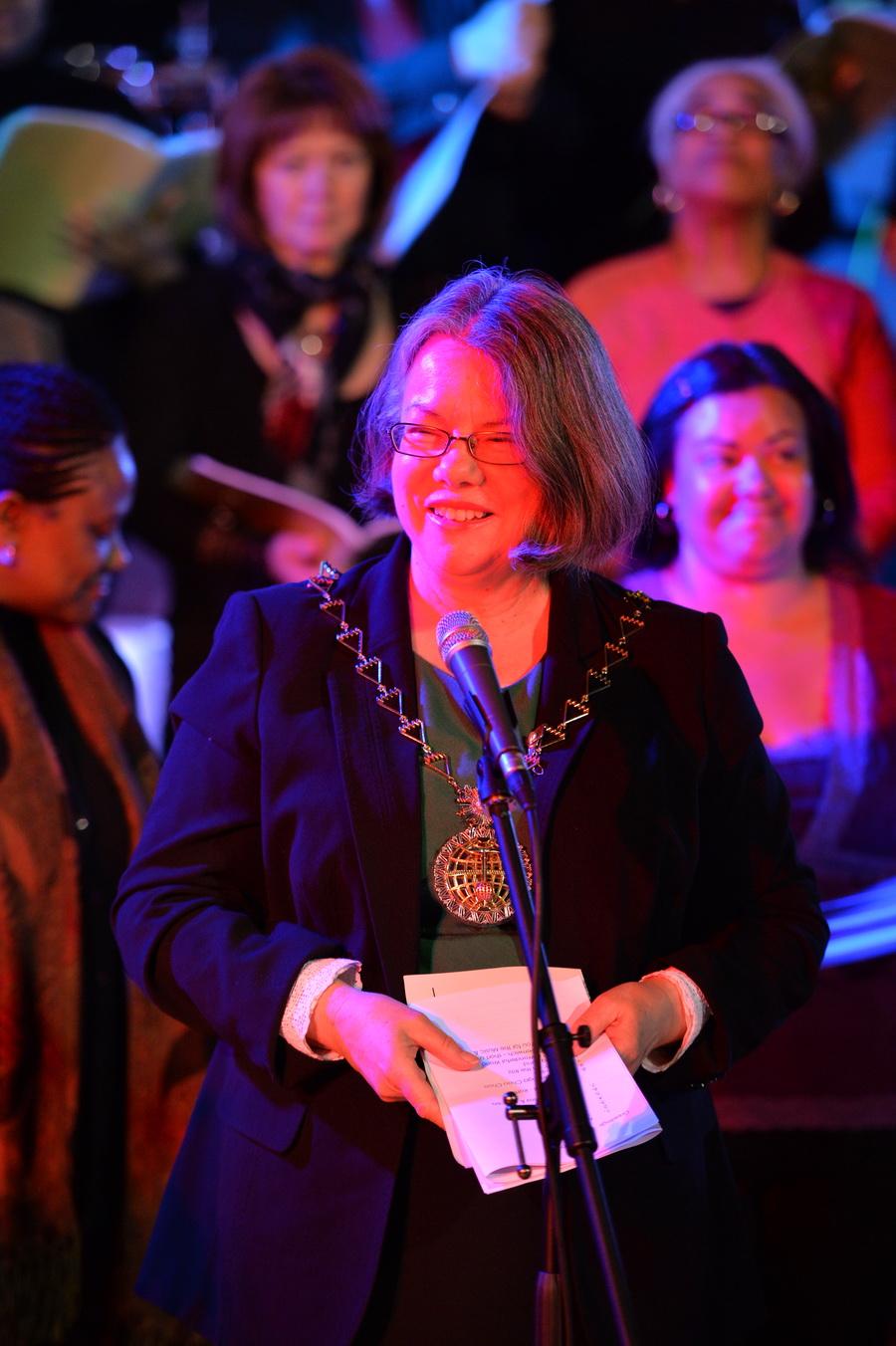 The Mayor of Royal Greenwich, Cllr Angela Cornforth (photo: Mike King)