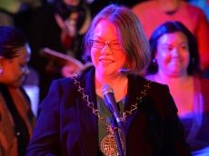 The Mayor of Royal Greenwich, Cllr Angela Cornforth (photo: Mike King)