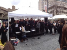 Southbank singing whole choir
