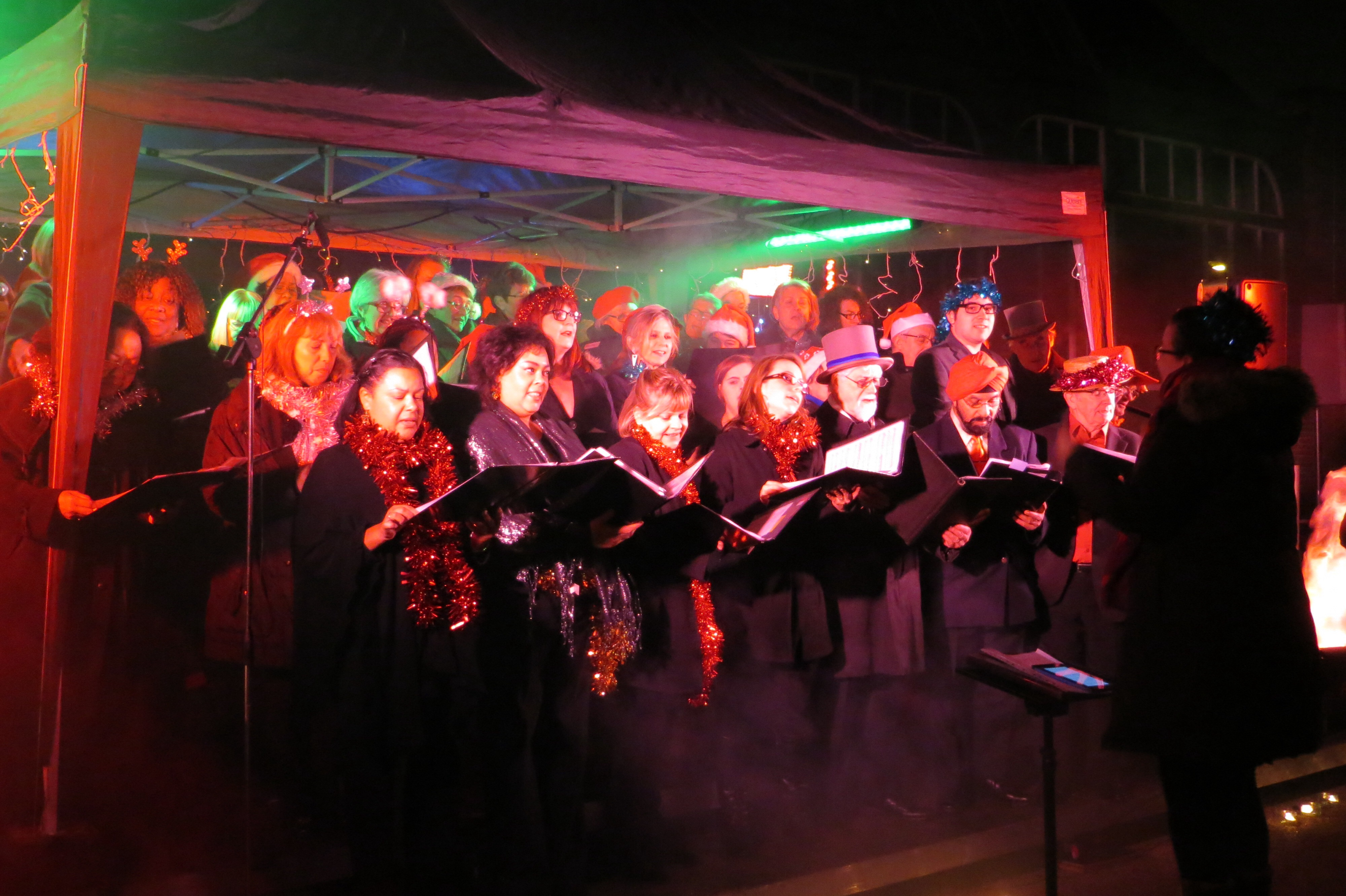 Turning on the Woolwich Christmas lights
