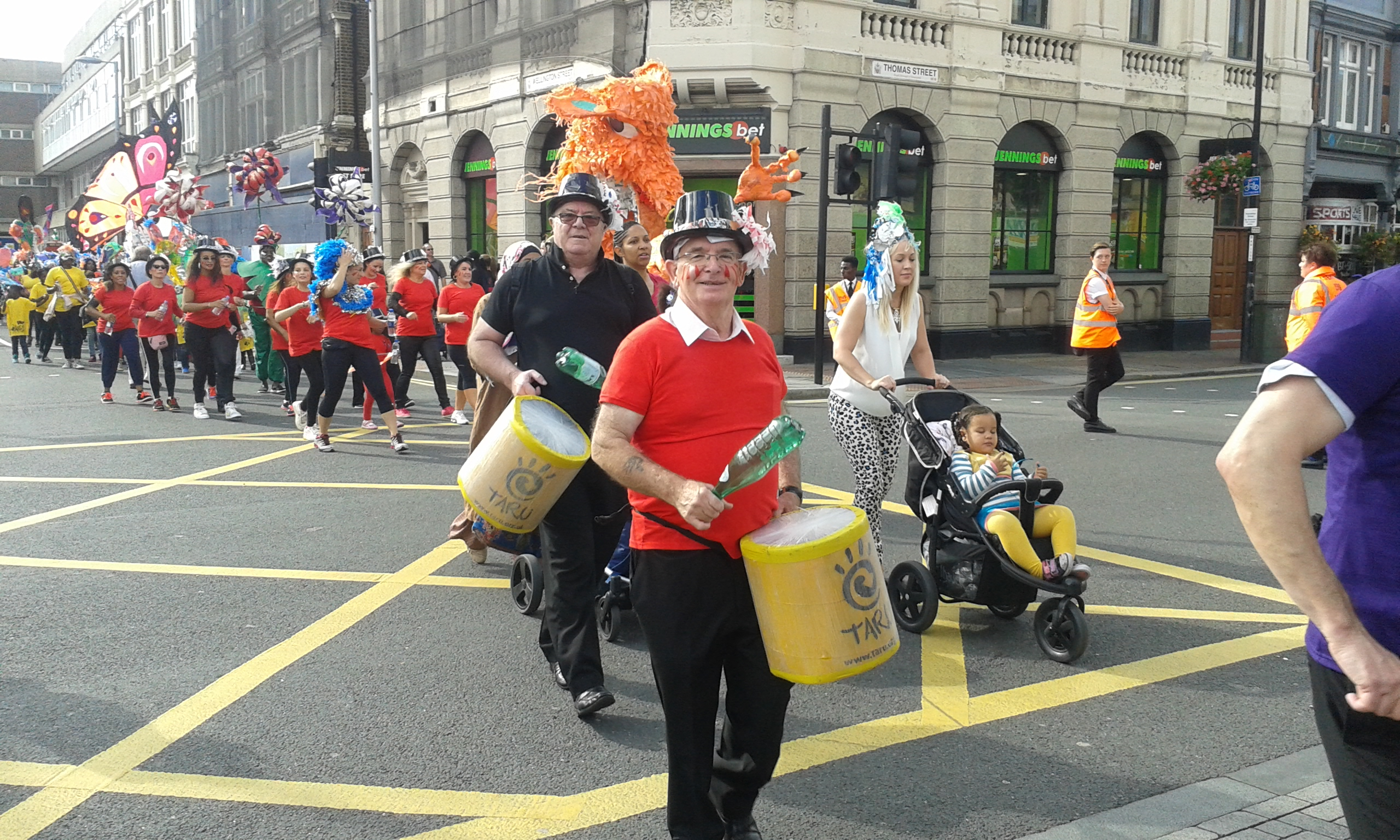 Drummers and dancers