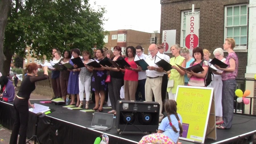 Woolwich Singers at the Woolwich Dockyard Talent Showcase